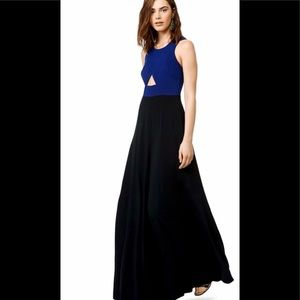 Thakoon blue and black point gown size 6